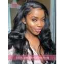 100% Virgin Human Hair Undetectable Lace Wig Body Wave Pre-Plucked Hairline 360 Lace Wigs [LWigs21]