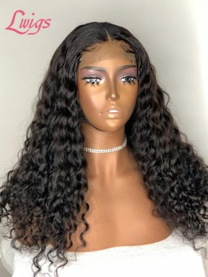 Brazilian  Virgin Hair Full Lace Human Hair Wigs Deep Curly Full Lace Wigs With Baby Hair lwigs38