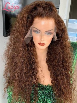 Chestnut Brown Lace Front Wig Undetectable HD Lace Wig Affordable Human Hair Wig LWigs67