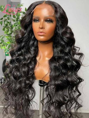 Hairvivi Dream HD Lace Front Wig Human Hair Wigs Loose Wave Pre-Plucked Hairlin Virgin Hair Invisible Lace Wig Hair Goals Lwigs70