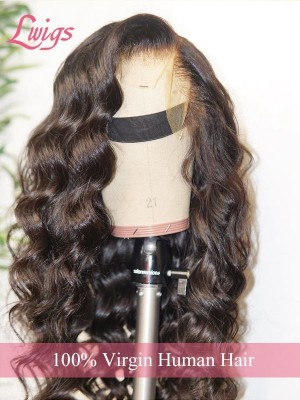 New Arrival Style 22 180% Density Body Wave 134 Lace Front Wig 100% Human Hair Wig For Black Women Lwigs293