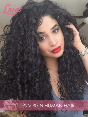Brazilian Virgin Hair 9A Grade Human Hair Wigs For Black Woman Kinky Curly Hair Style 13*6 Lace Frontal Wig Lwigs280