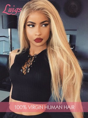 Straight Hair Color Long Blonde Hairstyles Wigs For Black Women Human Hair Wigs 13x6 Lace Front Wigs [LWIGS96]