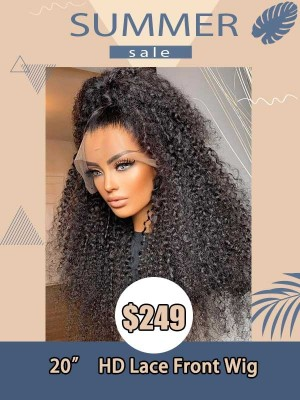 Summer Sale Plucked Natural Hairline Tint Curly Virgin Hair Black Hair Magic HD Lace Front Wig Fake Scalp SS03