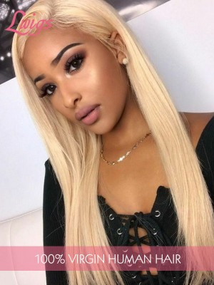 Unprocessed #613 Full Lace Wig Virgin Brazilian Straight Blonde Full Lace Human Hair Wigs