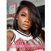 HD Lace Kinky Straight Side Part Peruvian Virgin Hair 13X6 Lace Front Wig With Single Knots Lwigs308