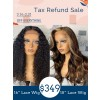 Tax Refund Sale 2021 Super Deal Undetectable HD Lace Wig 134 High Light Color Wavy Hair With Kinky Curly Lace Front Wig TS05