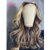 Undetectable HD Lace Wigs Highlights Body Wave With Plucked Brazilian Virgin Human Hair MD08
