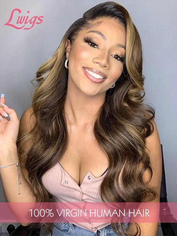 HD Lace 13x6 Lace Front Human Hair Wigs Single Knots Body Wave Brazilian Virgin Hair Lace Front Wigs [LWigs122]