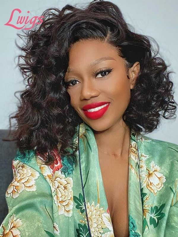 Special Sale 100% Virgin Human Hair Loose Wave  Curls Lace Frontal Wig Slayed Unit Lwigs388