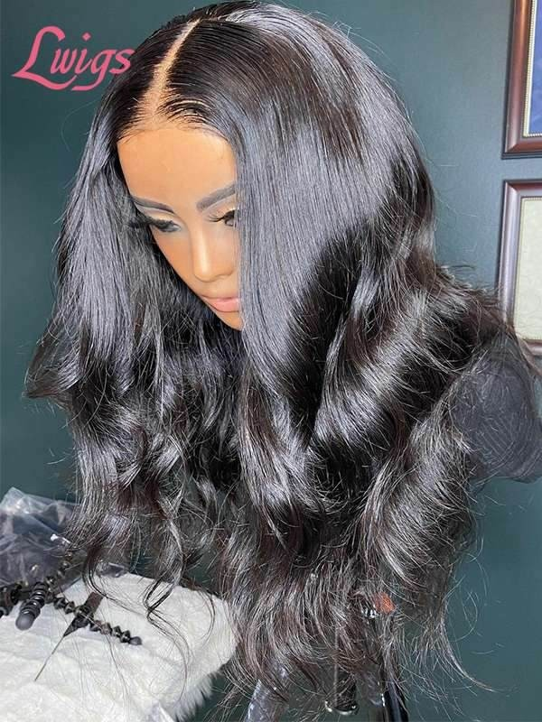 2021 Combo Sale Long Body Wave 44 Lace Wig With Kinky Curly Lace Front 134 Wig Bleached Knots With Babe Hair Tax Refund Sale TS03