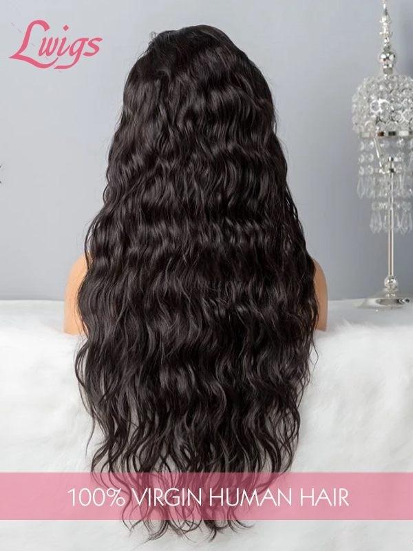 360 Lace Wigs Human Hair Wigs Unprocessed Virgin Brazilian Water Wave Hair Wigs Dream Swiss Lace With Fake Scalp LWigs197