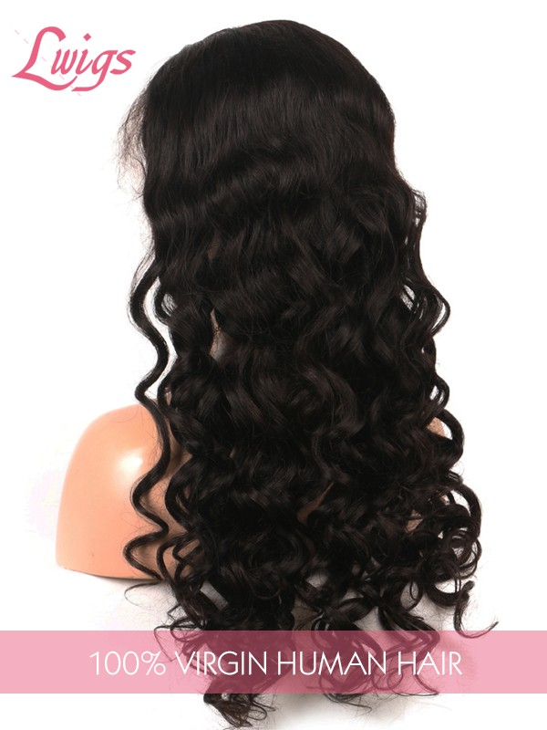 Loose Wave Pre Plucked Hairline Human Hair Wigs For Black Woman Brazilian Virgin Hair Lace Front Wigs