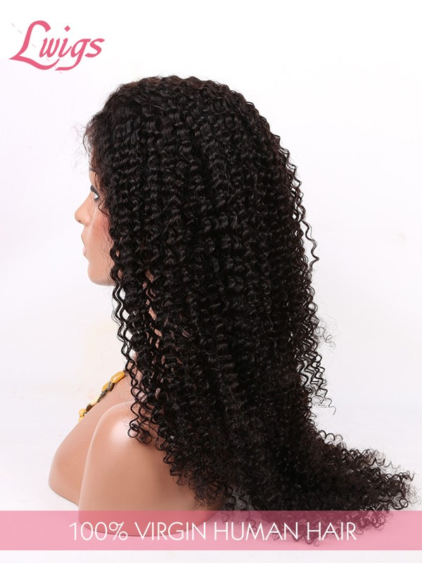 Brazilian Virgin Human Hair Curly Hair Lace Wigs With Baby Hair For Black Women Lace Front Wigs