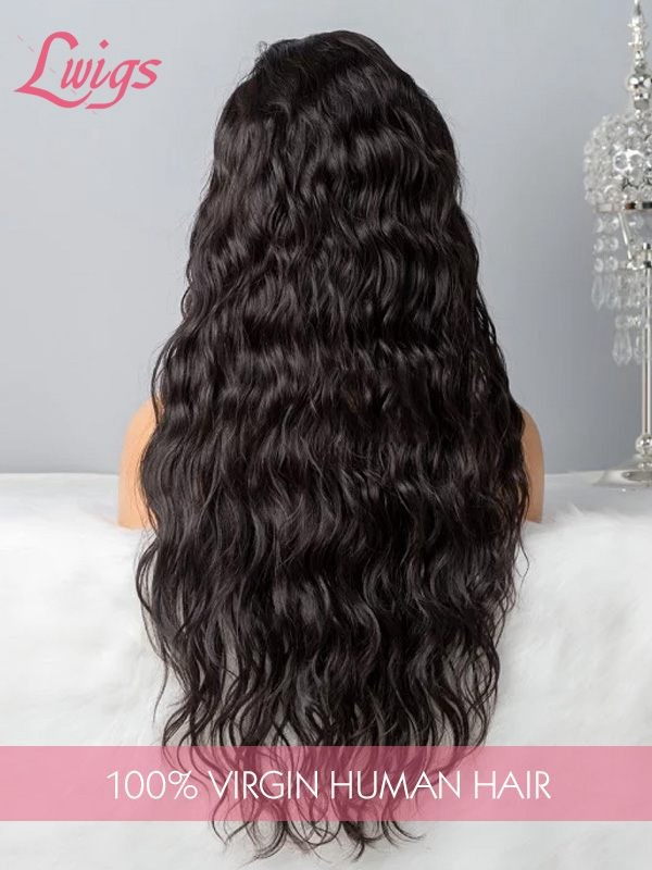 6 Parting Loose Curly 360 Lace Wigs Virgin Peruvian Human Hair Undetectable HD Lace With Fake Scalp LWigs166