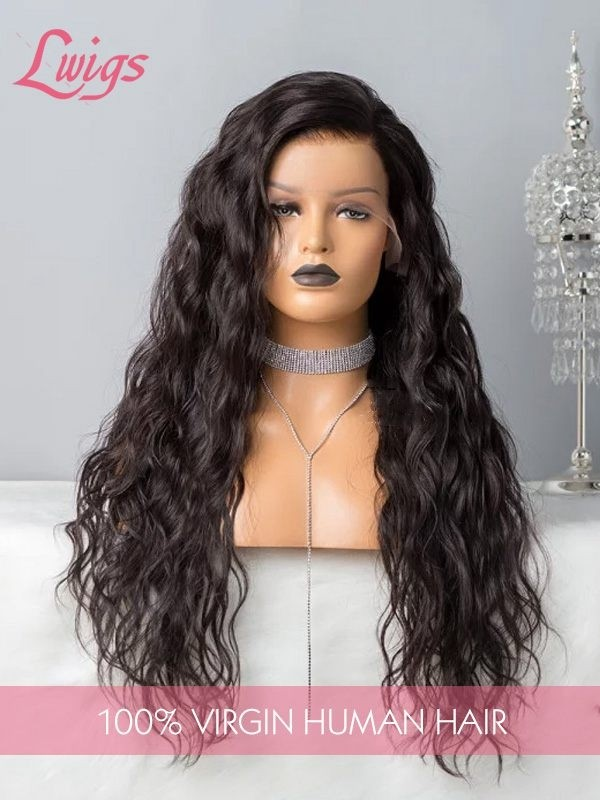 Water Wave Wig Lace Front Wigs Brazilian Remy 13x6 Lace Front Human Hair Wigs With Baby Hair Pre-Plucked Hairline [LWIGS216]