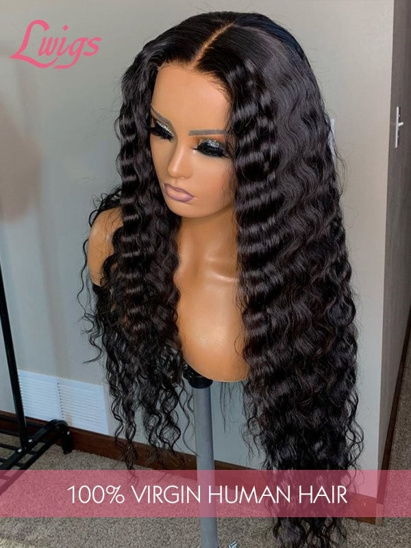 9A Virgin Hair Undetectable Dream Swiss Lace Big Curly 360 Lace Wig Pre-Plucked Natural Hairline 360 Lace Frontal Wigs LWigs14
