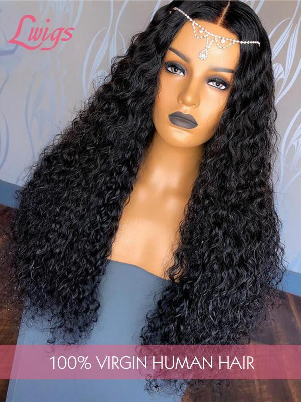 Glueless HD Dream Lace Malaysian Virgin Human Hair Curly 360 Lace Wig With Single Knots LWigs184