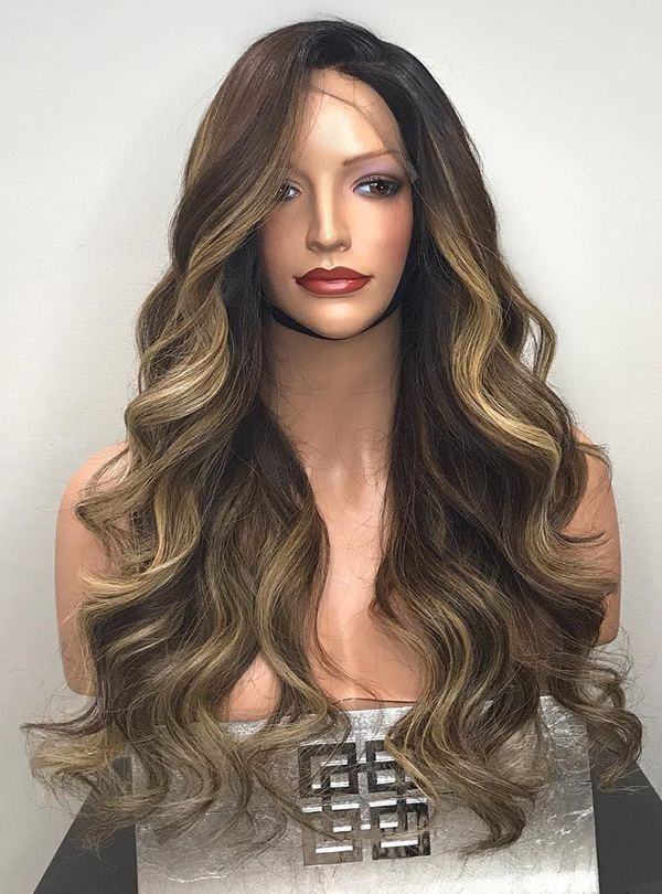 Highlight Blonde Color Hair Sexy Body Wave Virgin Brazilian Human Hair 13*6 Lace Front Wigs Undetectable Lace Wig Pre-Plucked Natural Hairline Lwigs282