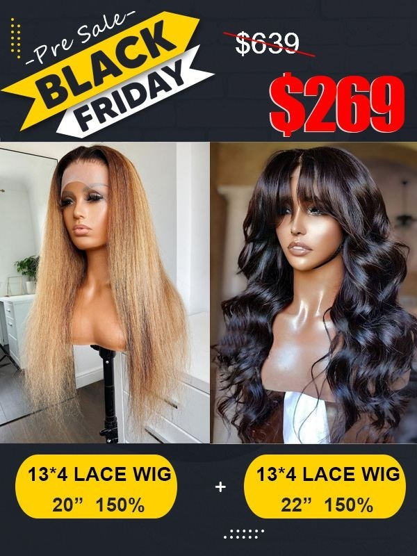 Black Friday Pre Sale Brazilian Virgin Human Hair Undetectable HD Lace Wig Super Deal With Special Gift Only For Black Friday Pre Sale BF02