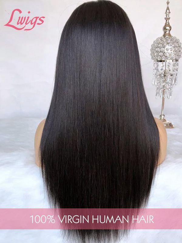 Brazilian virgin hair  Silky Straight  Full Lace Human Hair wigs with baby hair LWigs88