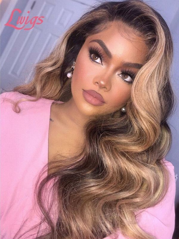 Brazilian Virgin Hair Wigs Undetectable HD Lace Wave 360 Lace Wigs For Black Women With Bleached Knots LWigs185