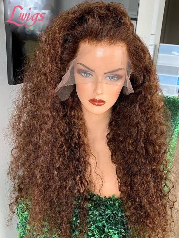 Chestnut Brown U Part Wig Affordable Human Hair Wig LWigs67