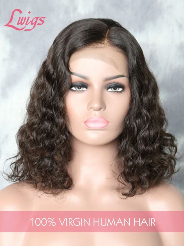 Deep Wave Lace Wigs Virgin Indian Hair Human Hair 13X6 Lace Front Wigs For Black Women [LWIGS153]