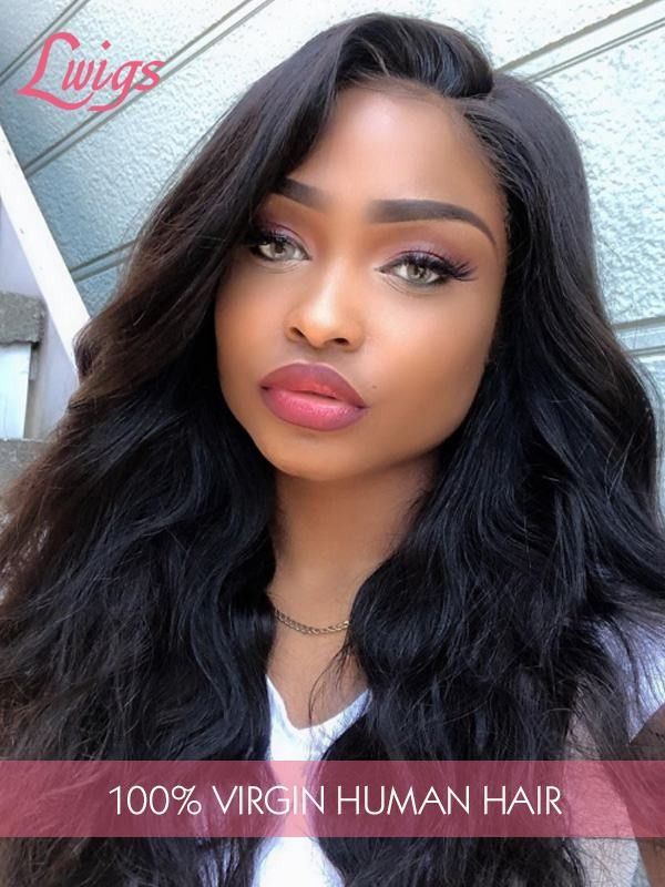 Body Wave 9A Brazilian Virgin Hair 13*6 Lace Front Wigs For Black Woman With Boby Hair Free Shipping [LWigs262]