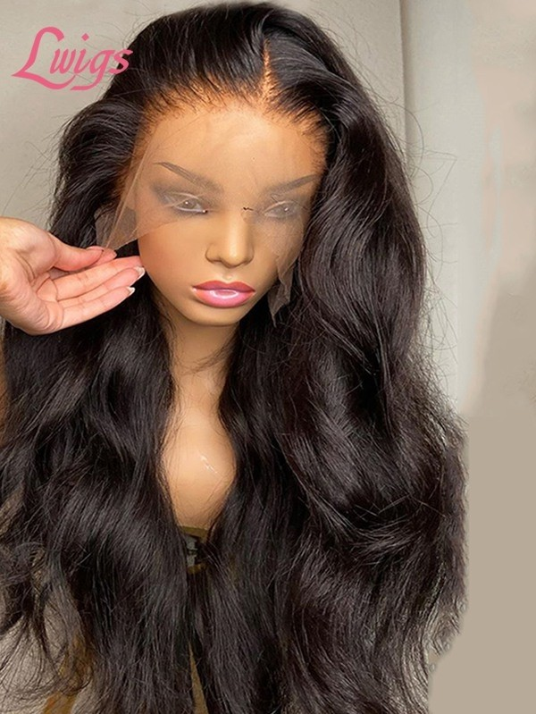 Glueless HD Lace 10A Grade Virgin Human Hair Pre-plucked Hairline Body Wave Full Lace Wig Lwigs387