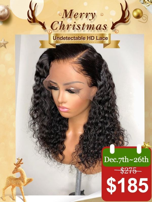 Glueless Undetectable HD Lace 16 Curly 6 Parting Lace Wig With Pre-plucked Hairline [MAX04]