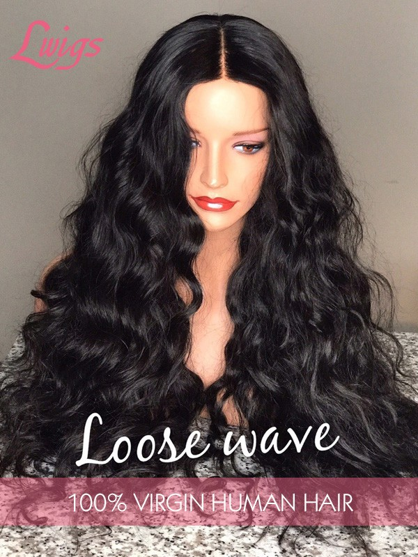 HD Lace Natural Pre-plucked Hairline 6 Deep Part Body Wave Brazilian Virgin Hair 13x6 Lace Front Wigs [LWIGS179]