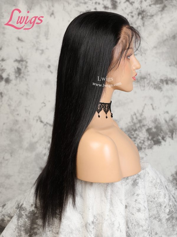 High Quality Virgin Malaysian Human Hair Silky Straight 360 Lace Wigs With Natural Hairline For Balck Women [LWigs62]