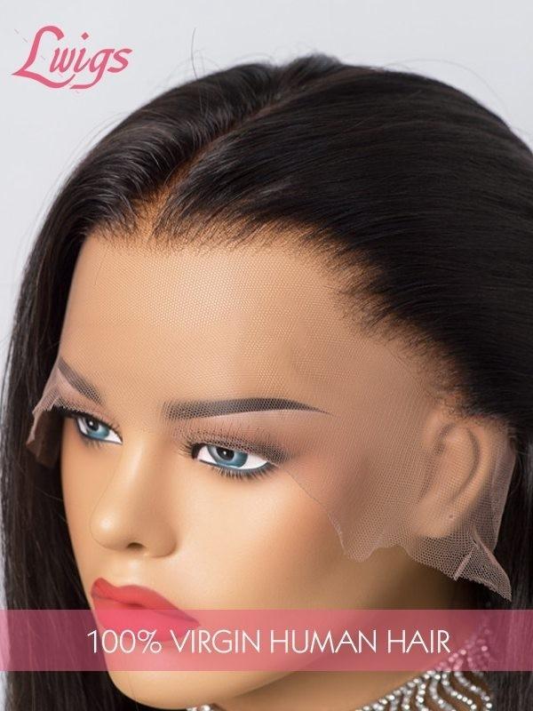 9A Grade Human Hair Body Wave Brazilian Virgin Human Hair 13x6 Lace Front Wig Full Ends HD Lace Frontal Wigs Lwigs214