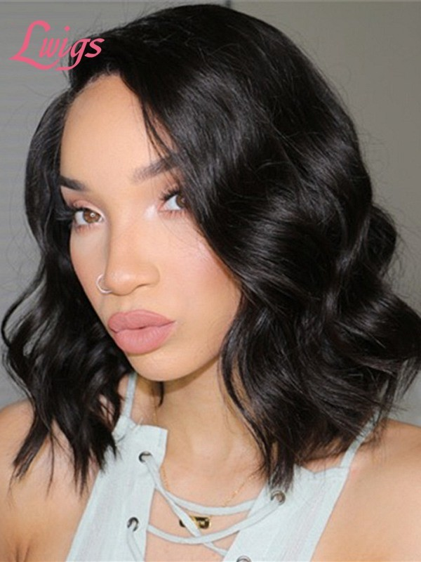 Hot Selling Summer Bob Wig Undetectable Lace Brazilian Virgin Human Hair Wigs  Short Wave With Pre-Plucked Hairline 360 Lace Wig Lwigs251