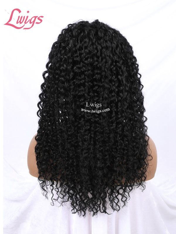 Kinky Curly 13x6 Lace Front Human Hair Wigs For Black Women Pre Plucked Brazilian Remy Hair Bleached Knots Lace Front Wigs LWigs49