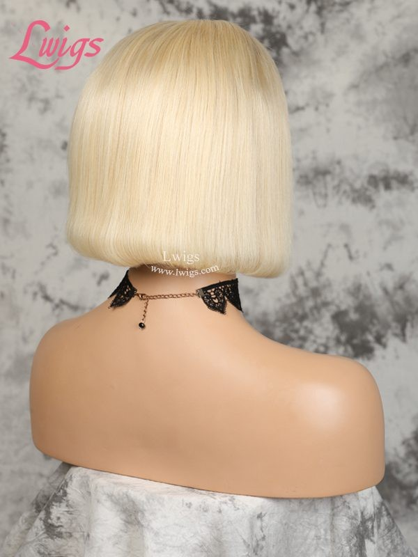 Kyliejenner Hair 613# Blonde Hair Brazilian Virgin Hair Straight Short Bob Style Lace Front Wigs [LWIGS90]