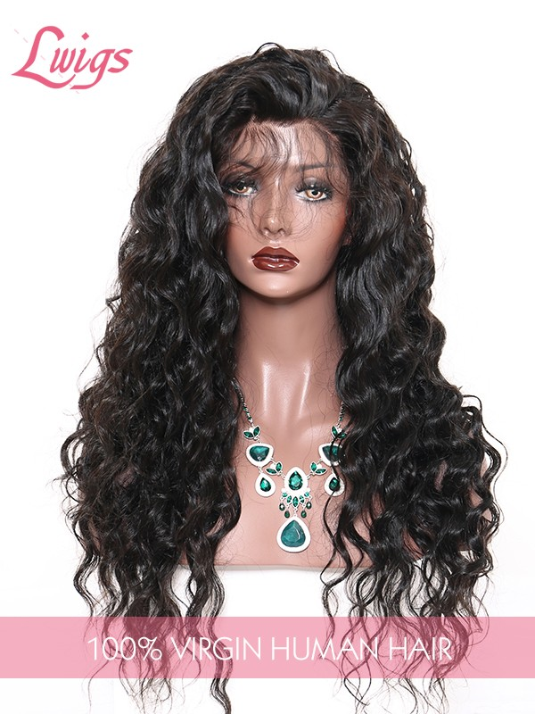 Wavy Human Hair Wigs For Black Women Brazilian Virgin Hair Wig With Baby Hair Lace Front Wigs