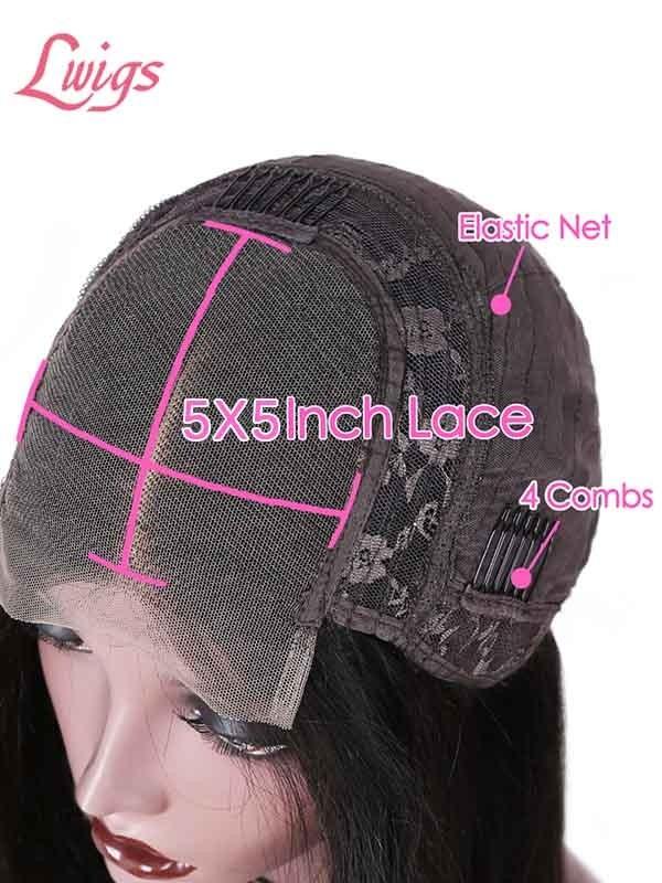 Hd Lace Closure Wigs Pre Plucked Bleach Konts Brazilian Human Vigin Hair Wigs Deep Curly 5x5 Lace Closure Wigs for Black Women LWigs 416