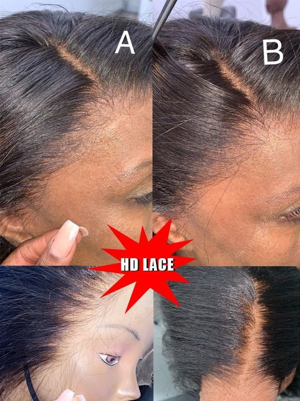 Pre Plucked Natural Hairline Human Hair Wigs For Black Women Natural Wave Indian Remy Hair Lace Front Wigs
