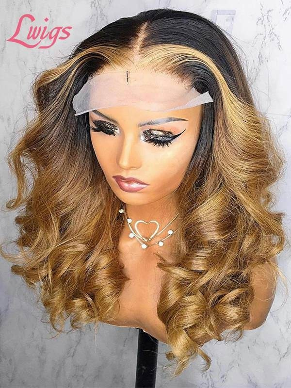 New Arrival 134 Lace Front Wig In Ombre Colo Wavy Hair With Deep Wave 44 Lace Wig Pay 1 Get 2 Tax Refund Sale TS02