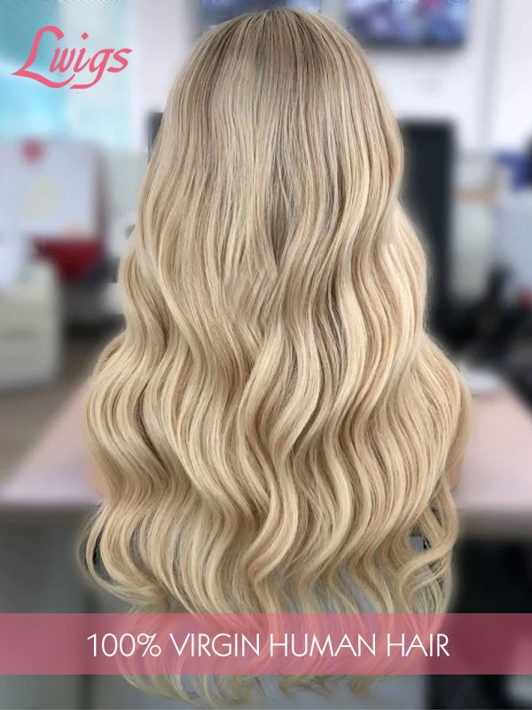 New Arrival Jessica Brazilian Virgin Human Hair Blonde Ombre Color Body Wave Lace Front Wigs Lwigs244