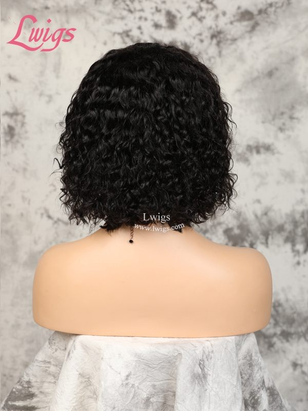 New Arrival Undetectable Dream Swiss Lace Curly Short Bob 360 Lace Frontal Wig With Fake Scalp Lwigs247