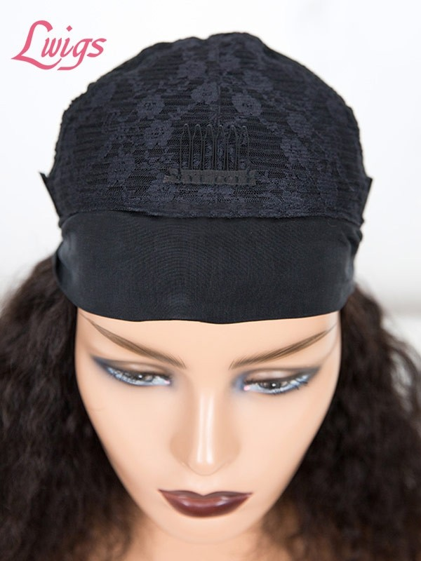 New Arrvial Brazilian Virgin Human Hair Short Curly Wig High Density Headband Curly Wig Lwigs379
