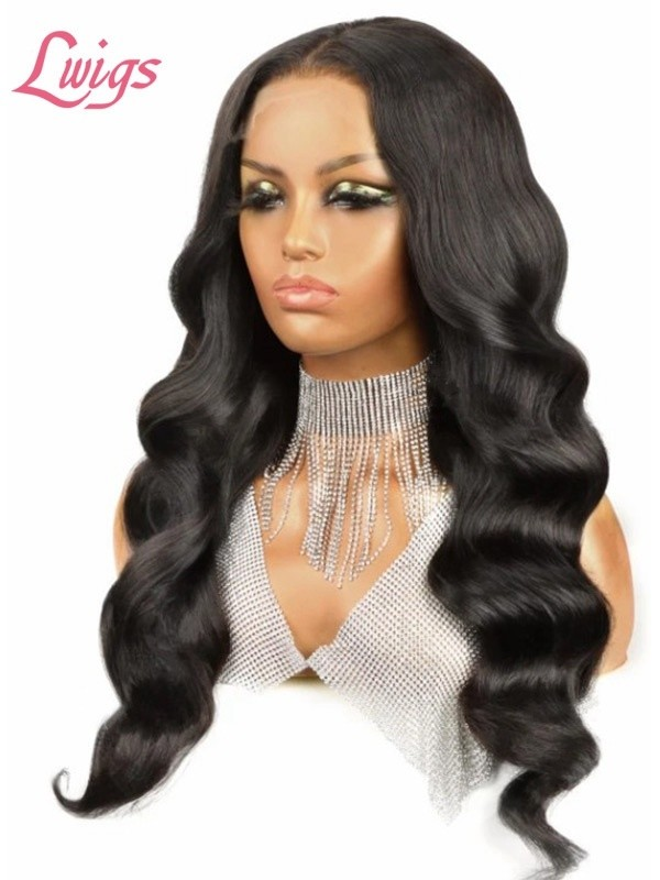 New style Body Wave HD Lace Closure Wig Natural Color Glueless 5x5 Lace Closure Human Hair Wigs 150% Density Lwigs 415