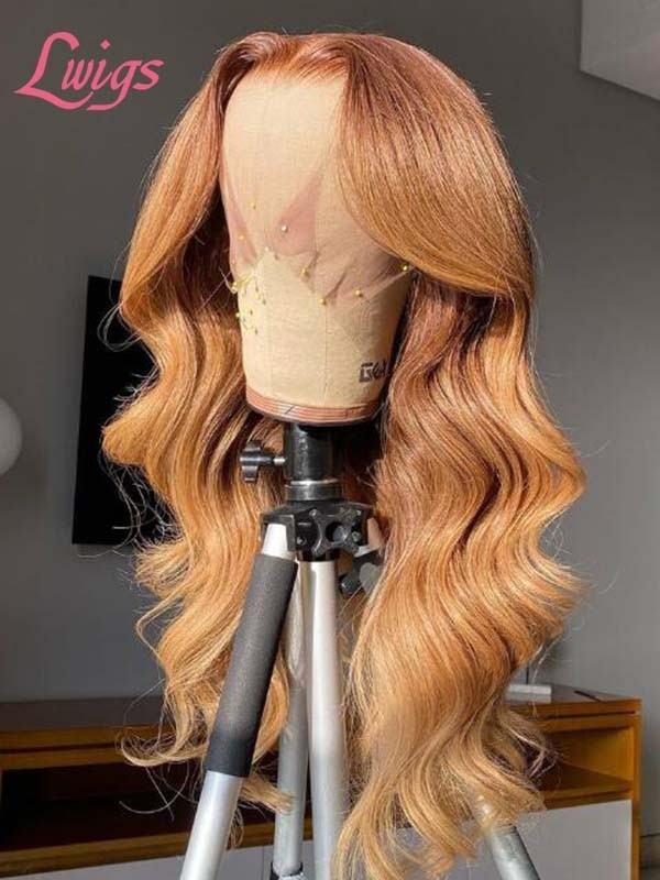 Sugar Orange Colored Body Wave HD Lace Frontal Wig Soft Virgin Hair Dream Lace Wig Lwigs389