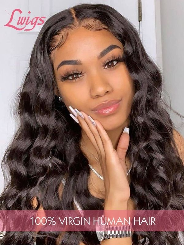 Pre-plucked Brazilian Virgin Human Hair Wigs Dream Swiss Lace Loose Curly Wavy Wigs With Baby Hair 360 Lace Wigs [LWigs13]