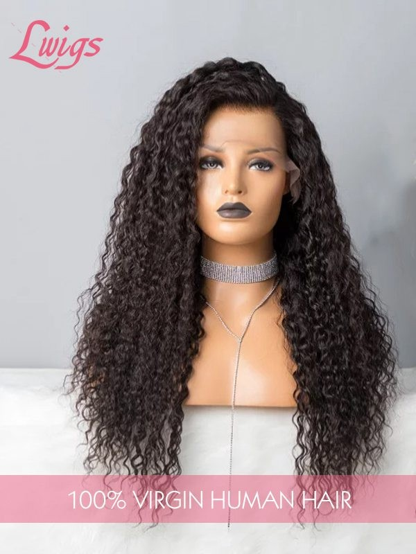 Pre Plucked Undetectable Dream Swiss Lace 360 Lace Frontal Wigs Peruvian Virgin Hair Free Shipping Curly 360 Lace Wigs [LWigs195]