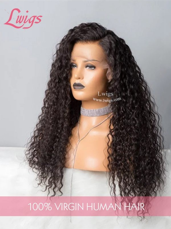 10A Unprocessed HD Lace Front Wigs Curly Virgin Peruvian 13X6 Lace Front Human Hair Wigs For Black Women LWigs123
