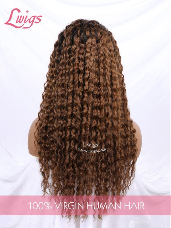 Top Quality Ombre Color #1B30 Loose Wave Human Hair Lace Front Wigs Virgin Brazilian Hair Lace Front Wigs [LWigs209]